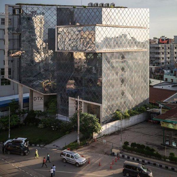 Outside Bangladesh Building